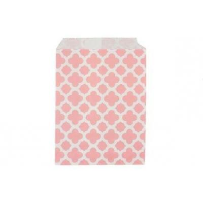 Бумажные пакеты для выпечки Арабески розовые, 1 шт