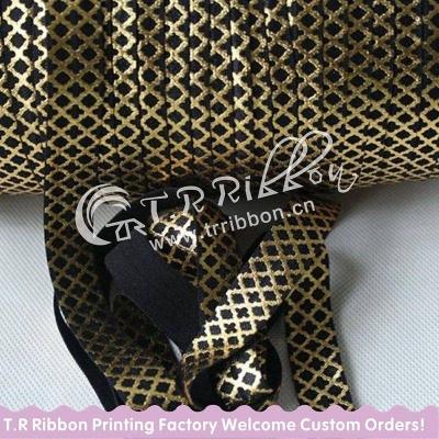 Резинка Чёрный с мелким золотым узором