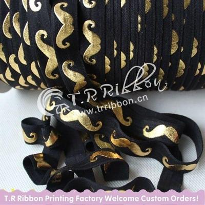 Резинка Чёрный с золотыми усами