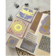 Стикеры с золотым фольгированием Византия