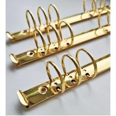 Кольцевой механизм а5 (22 см)на 6 колец, диаметр 3 см, золото (крепления в комплекте)