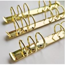 Кольцевой механизм а6 (17,5 см) на 6 колец, диаметр 3 см, золото (крепления в комплекте)