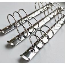 Кольцевой механизм а6 (17,5 см) на 6 колец, диаметр 3 см, серебро (крепления в комплекте)