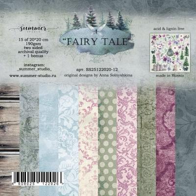 """Фоновый набор двусторонней бумаги """"Fairy tale"""" 20*20см"""