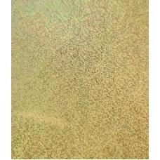 Кожзам на тканевой основе голографический золотой 33х70 см