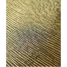 Кожзам на тканевой основе золотой с тиснением лоза 33х70 см