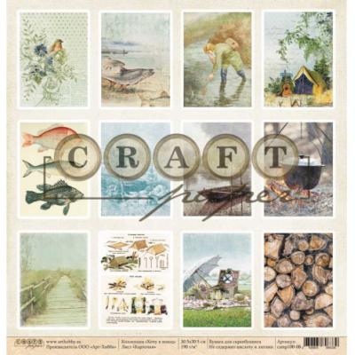 "Карточки 30.5x30.5 ""Хочу в поход"" от Craft Paper"