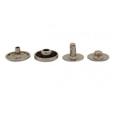 Кнопка Альфа (сталь) 12,5 мм, никель, 100шт.