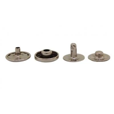 Кнопка Альфа (сталь) 12,5 мм, серебро никель, 100шт.