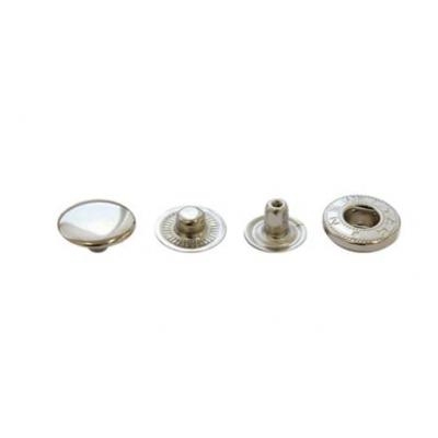 Кнопка Альфа (сталь) 15 мм, серебро, 100шт.