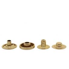 Кнопка Альфа (сталь) 15 мм, золото, 100шт.
