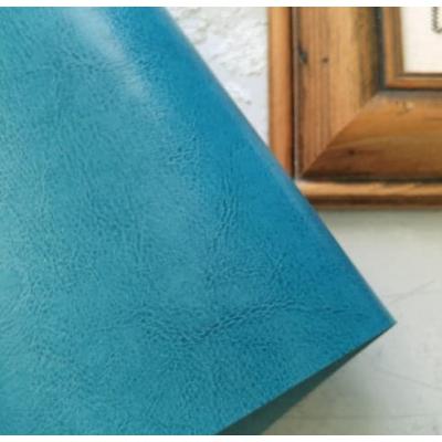 Переплетный кожзам бирюзового с тиснением шевро 35х50 см
