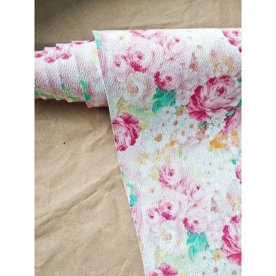 Кожзам на тканевой основе с акварельными цветами 34х45 см