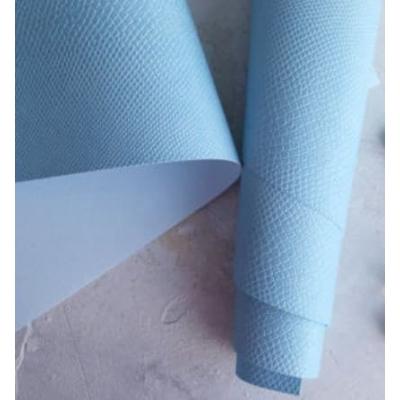 Переплетный кожзам светло-голубого цвета с тиснением питон 35х50 см