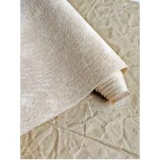Кожзам на тканевой основе Мятые джинсы - бежевый, 34х45см