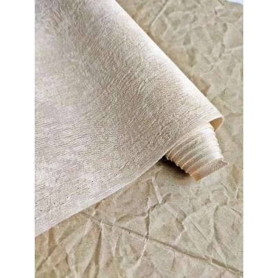 Кожзам на тканевой основе Мятые джинсы бежевого цвета, 34х45см