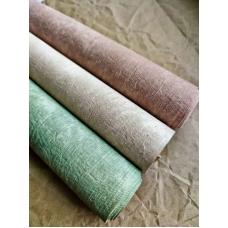 Кожзам на тканевой основе Мятые джинсы - зеленый, 34х45см