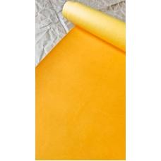 Переплетный кожзам матовый желтый без тиснения 35х50 см