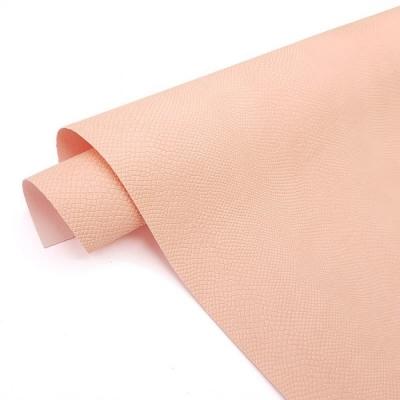 Переплетный кожзам цвета розовая зефирка с тиснением питон 35х50 см