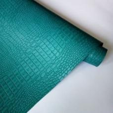 Переплетный кожзам морская волна под кожу крокодила 35х50 см