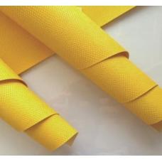 Переплетный кожзам желтый с тиснением под кожу питона 35х50 см