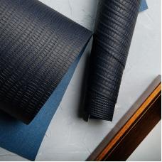 Переплетный кожзам джинсовый темно-синий под кожу ящерицы 35х50 см
