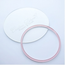 Акриловый круг, Cristina Petrova, розовый глиттер, 10см