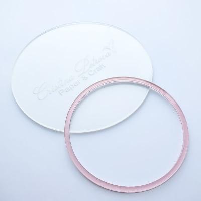 Акриловый круг, Cristina Petrova, розовый глиттер, 16см