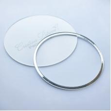 Акриловый круг, Cristina Petrova, зеркальное серебро, 10см