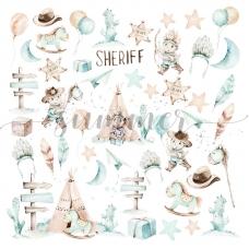"Лист для вырезания ""Little sheriff"" 30x30, SS"