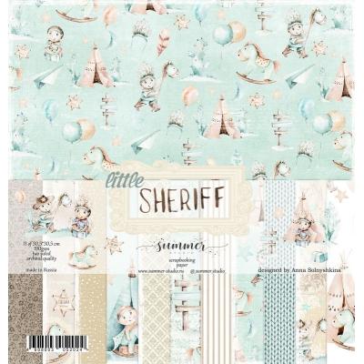 "Набор двусторонней бумаги ""Little sheriff"" 30*30см"