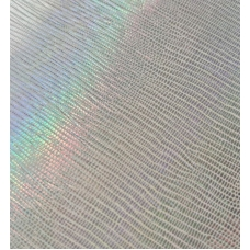 Кожзам на тканевой основе белый с тиснением лоза 33х70 см