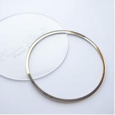 Акриловый круг, Cristina Petrova, зеркальное золото, 10см