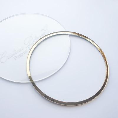 Акриловый круг, Cristina Petrova, зеркальное золото, 12см