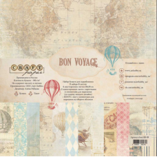 """Набор бумаги 20х20 """"Bon Voyage"""""""