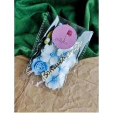 Набор цветов Polly.tra с розой, голубой