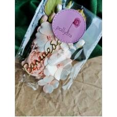 Набор цветов Polly.tra с пионом, персиковый