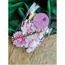 Набор цветов Polly.tra с хризантемой, розовый