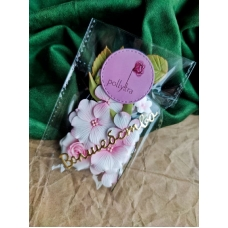 Набор цветов Polly.tra с розой, розовый