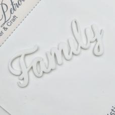 Надпись из акрила Family, Cristina Petrova