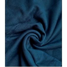 """Замша двухсторонняя синяя """"Пыльный жадеит"""", 25х70 см"""