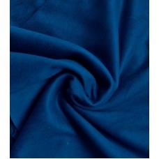 """Замша двухсторонняя синяя """"Ночь"""", 25х70 см"""