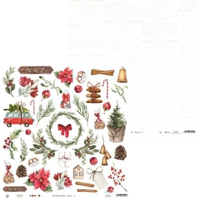 """Лист для вырезания """"The four Seasons - Winter"""" 30x30 от P13"""