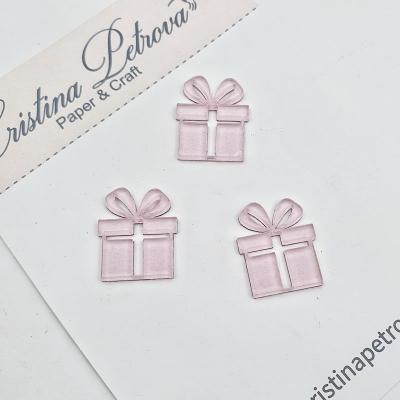 Фигурка из акрила Подарки, розовый глиттер, Cristina Petrova