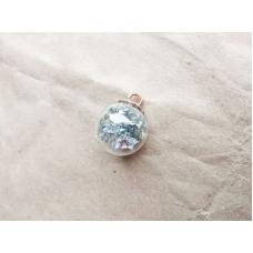 Подвеска-шарик стеклянная с кристаллами