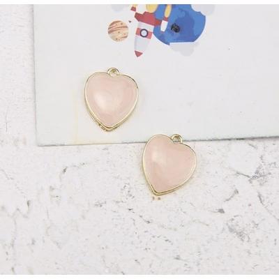 Подвеска в форме сердца, розовая