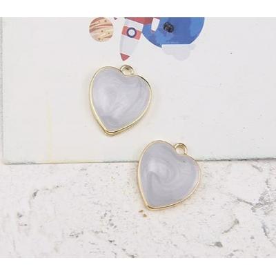 Подвеска в форме сердца, голубая