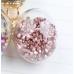 Подвеска-шарик с розовыми кристаллами внутри