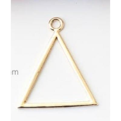Подвеска в форме треугольника золото