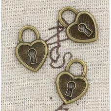 Винтажная подвеска в форме сердца